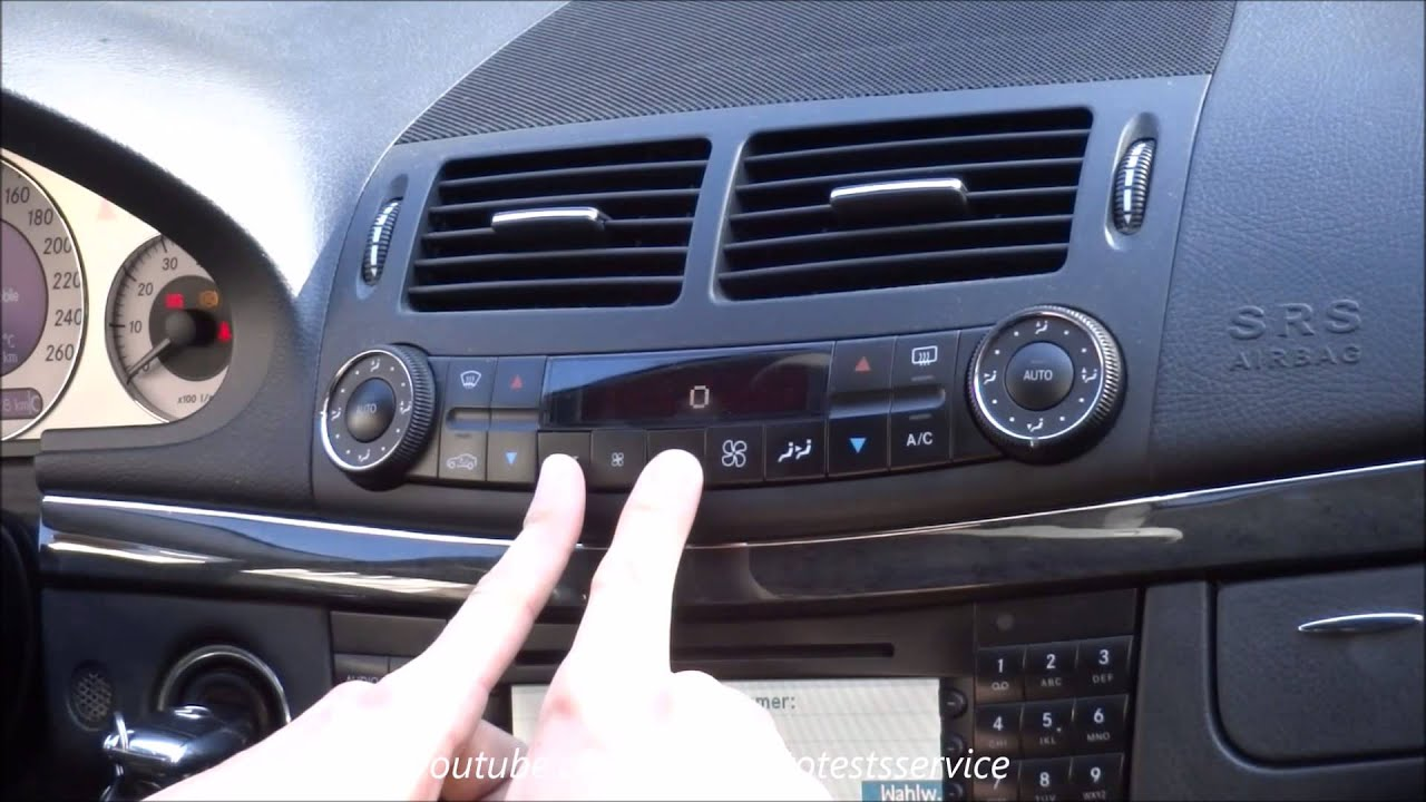 Mercedes W211 How To Use Hidden Air Condition Ac Menu Youtube