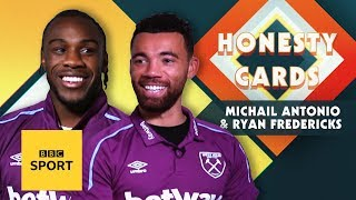 'My Scouse accent is terrible!' West Ham's Michail Antonio & Ryan Fredericks' play Honesty Cards