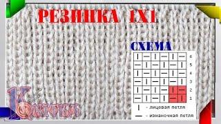 Вязание спицами резинка 1x1 57
