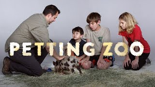 HiHo Petting Zoo - Kids Meet a Juliana Pig, a Mara, and a Wallaby! | Kids Meet | HiHo Kids