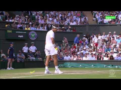 Rafa Nadal vs Nick Kyrgios wimbledon1 set ( fool math) part 1 - 2014