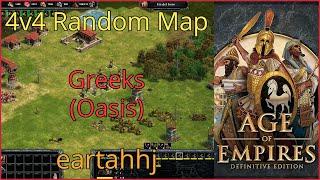 Age of Empires: Definitive Edition - 4v4 RM Greeks Oasis - eartahhj - 25/06/2019