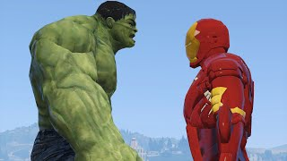 IRON MAN vs. THE HULK! (GTA 5 Mods Funny Moments)