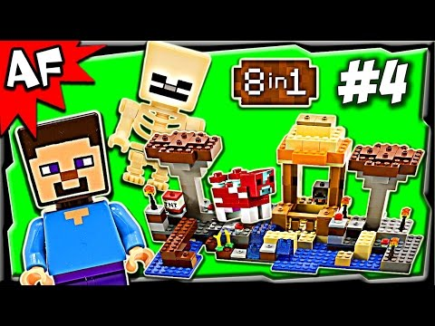Lego Minecraft 21116 CRAFTING BOX Build #4 Animated Stop Motion Review