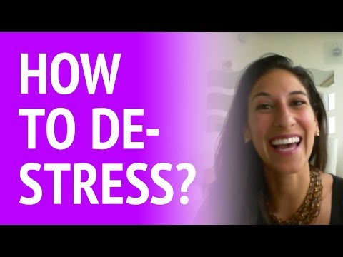 How to de-stress in a stressful job?