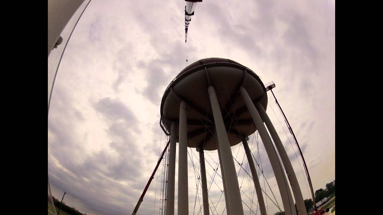 Trenton Water Tower Demolition : Water tower demolition time lapse youtube