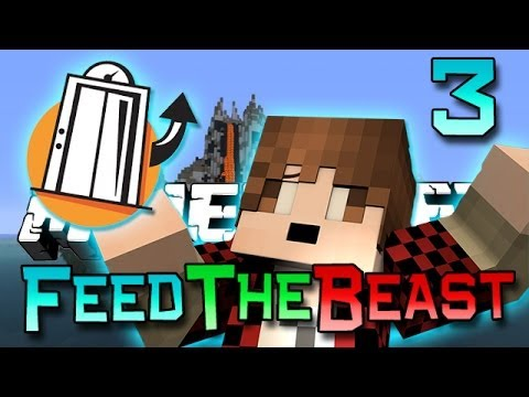 minecraft: feed the beast ep. 3 slime elevator! (modded