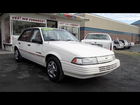 1992 Chevrolet Cavalier RS Start Up. Engine. and In Depth Tour