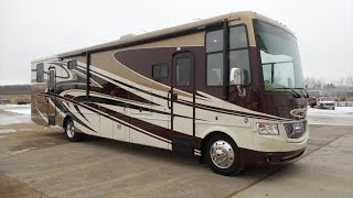 video The Newmar Canyon Star 3920 lets you bring your toys and a lot of people with 4 sleeping areas! This used 2014 is loaded and can be viewed at www.steinbring.com.