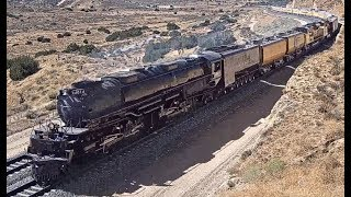 """BIG BOY""  UP 4014 & HIS ENTOURAGE AT HESPERIA, CA"