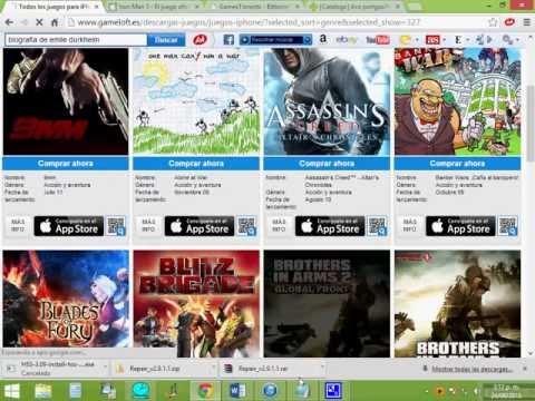 Como Descargar Juegos para Iphone 3gs. 4. 4s. 5. ipod touch y ipad full Gratis Agosto 2013
