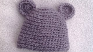 Download HOW TO CROCHET A VERY EASY  BABY HAT TUTORIAL 3Gp Mp4