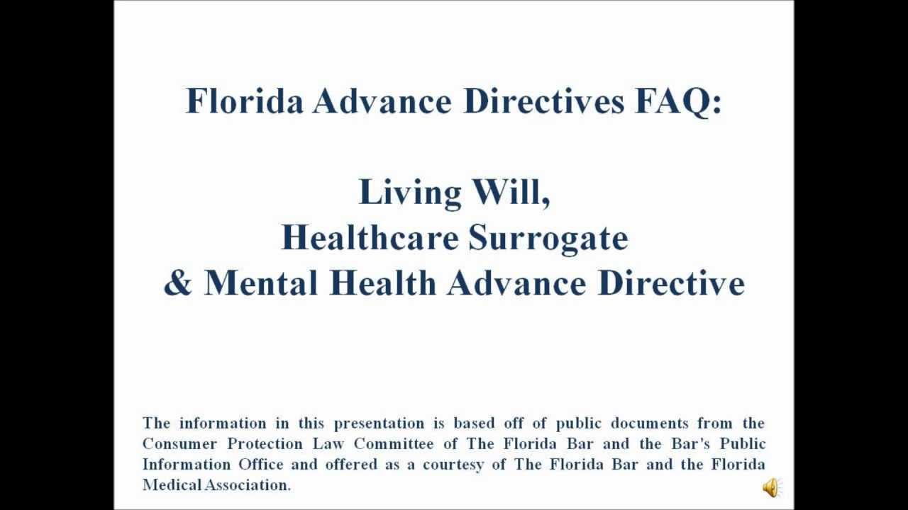florida advance directives video youtube
