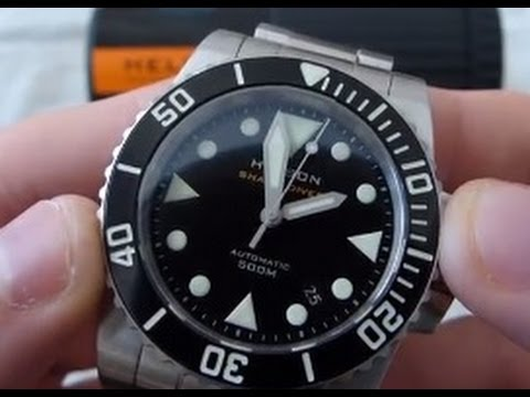 Helson 40mm shark diver review youtube - 40mm dive watch ...