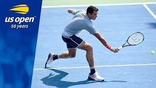 Milos Raonic Hold Court vs. Gilles Simon, Advances to R3 at the 2018 US Open