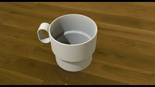 Creo Basic Tutorial - Cup Modelling and Rendering