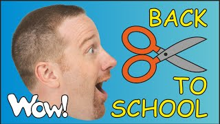 Back to School Song for Children | Funny Kid ESL Songs with Steve and Maggie