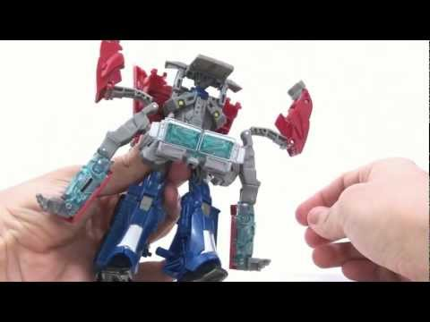 Video Review of the Transformers Prime (RiD) Voyager Class: Optimus Prime