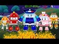 Baby Car Got Injured in Forest Fire | Super5 Rescue Team with Ambulance and Police Car cartoon