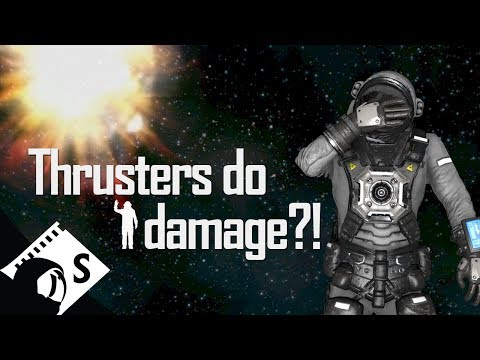 Space Engineers Tutorial: Thruster Damage Range (Part 10 of a survival tutorial series)