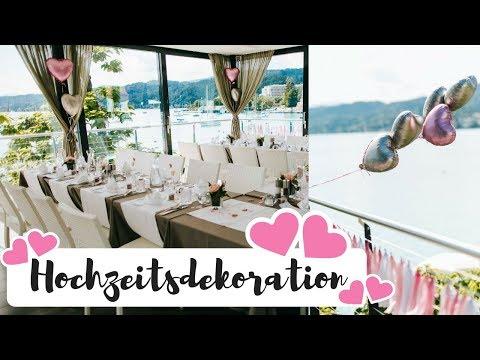 Dekoration für unsere rosa Hochzeit am See I AnnaBirdie