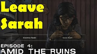 The Walking Dead Leave Sarah Dies Gets Killed Season 2 Episode 4 Amid The Ruins