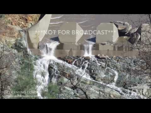 02-25-2017 Oroville, Ca - Close up of Damaged Spillways