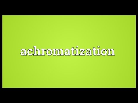 Header of Achromatization