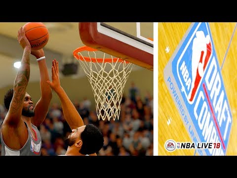 NBA Live 18 Gameplay - NBA Draft Combine Getting Picked In The Lottery