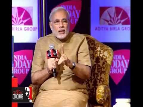 Shri Narendra Modi addressing the India Today Coclave 2013
