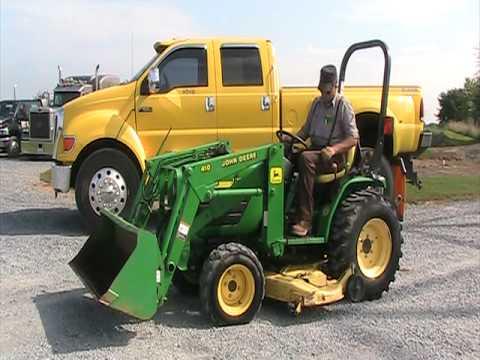 john deere 4100 tractor 410 loader youtube