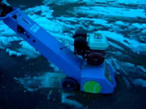 pulire marciapiede da ghiaccio – Ice breaker – road ice cleaner – rompi ghiaccio