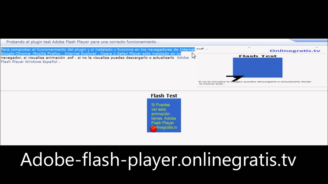 test flash player in chrome