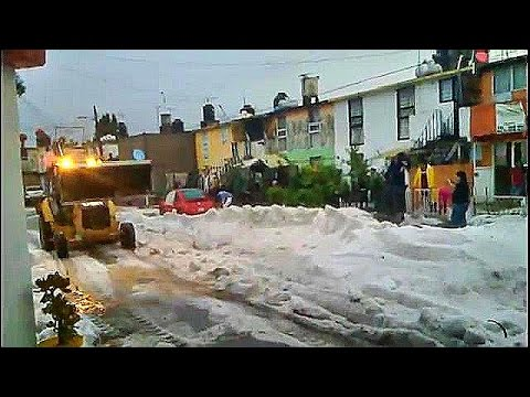 2015 Apocalyptic Hailstorm Pounds Coacalco in Mexico Leaving At Least three Dead - End Times Signs