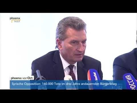 Gaslieferungen in die Ukraine - u.a. Günther Öttinger zu Gas aus Russland am 19.05.2014