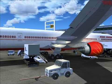 Landing at JFK (new york) Air india 777-300ER -FSX