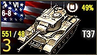 Мастер 3D-fan - T37 (v3, 3400 засвета, 1340 опыта), 6 уровень, США, ЛТ - Прохоровка + ЛБЗ-1 ЛТ-13