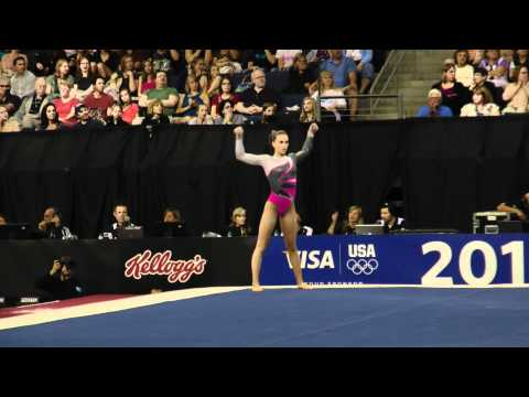 Amanda Jetter -- Floor -- 2012 Visa Championships -- Sr. Women -- Day 1