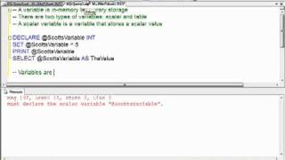 How To Declare and Initialize Variables in T-SQL (Part 1)