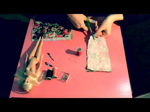 Barbie elbise yapımı/dikimi ( How to make a Barbie dress)