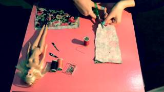 Barbie elbise yapımı/dikimi ( How to make a Barbie dress)