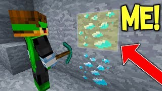 DISGUISING AS A DIAMOND TO TROLL XRAY HACKER ON MINECRAFT...