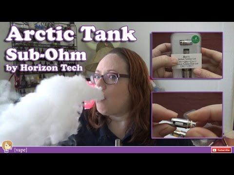 [vape] Arctic Tank by Horizon Tech ~ Early Impression Review ~ Sub-ohm Clearomizer