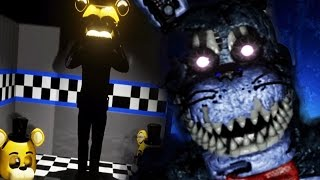 HIDING FROM THE PURPLE MAN AS HE PUTS ON HIS SUIT || FNAF 4 3D (FREE ROAM Five Nights at Freddys)