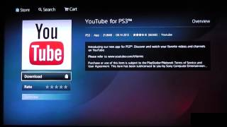 Como instalar YouTube en PS3 con nueva PlayStation Store
