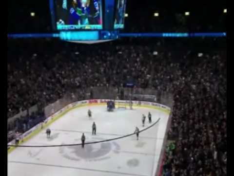 Henrik Sedin Great Move on Ryan Miller! Video
