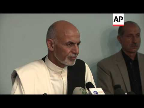 Afghan presidential frontrunner says dialogue only way to solve election dispute