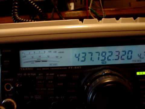 ISS CA3SOC cross-repeater Ham-Radio Satellite CHILE FT-847