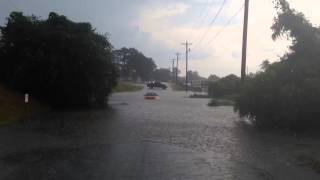 Video: Car Submerged In Flood
