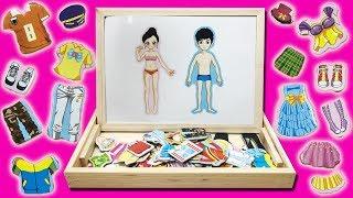 Đồ chơi thiết kế quần áo cho búp bê công chúa hoàng tử 20 bộ quần áo 10 đôi giày Toys Kids Chim Xinh